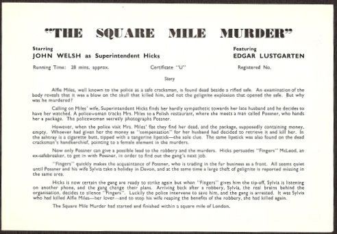 The Square Mile Murder