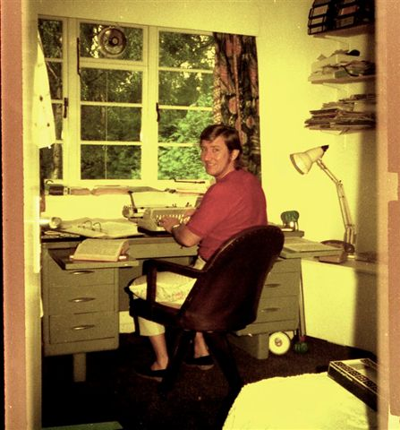 Stan in the midst of writing Tobin In Trouble 1973